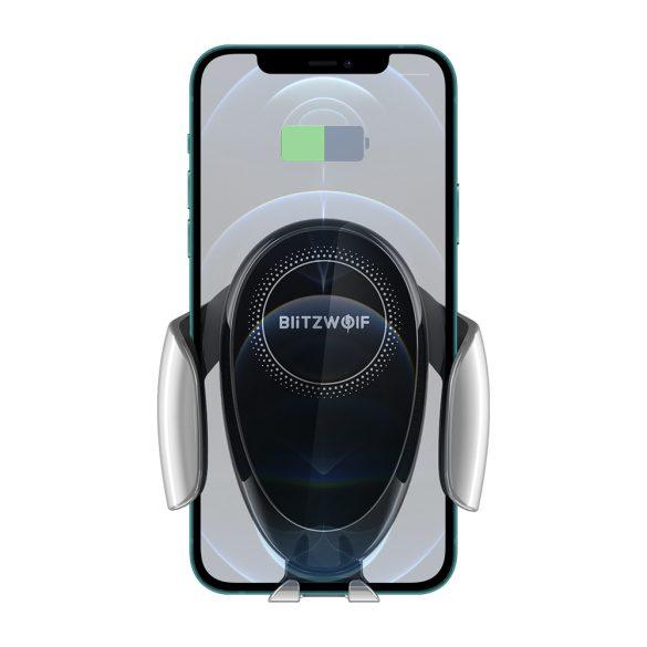 BlitzWolf® BW-CW3 - 15 W bezdrôtová rýchlonabíjačka + držiak do auta - pre všetky telefóny, ktoré podporujú bezdrôtové nabíjanie (štandard QI)