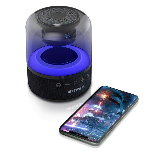 BlitzWolf® BW-AS4 Bluetooth RGB podsvietený reproduktor, 20 W, doba prehrávania 5 hodín, silné basy