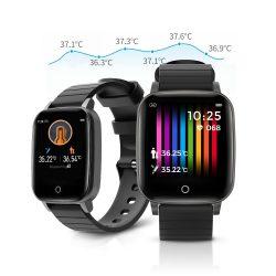 Blitzwolf® BW-HL1T smart hodinky: Monitor teploty, krvného tlaku a srdcového rytmu - čierny
