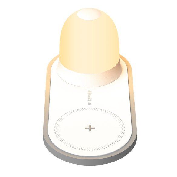 BlitzWolf® BW-LT26 10W bezdrôtová nabíjačka + nočný svetelný indikátor Dotyková lampa