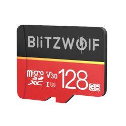 Pamäťová karta s adaptérom   Pamäťová karta s adaptérom Pamäťová karta BlitzWolf®BW-TF1 s kapacitou 128 GB s adaptérom, rýchlosť čítania až 80 MB / s + rýchlosť zápisu 20 MB / s