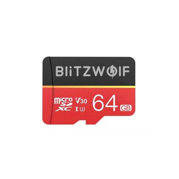 Pamäťová karta s adaptérom   Pamäťová karta s adaptérom Pamäťová karta BlitzWolf®BW-TF1 s kapacitou 64GB s adaptérom, rýchlosť čítania až 80 MB / s + rýchlosť zápisu 20 MB / s