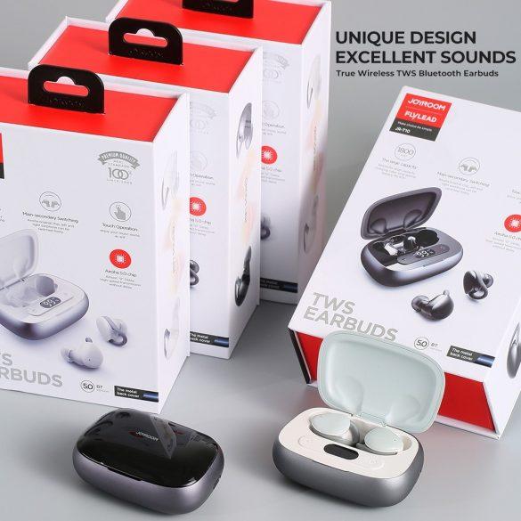 JOYROOM JR T10 black - Nabíjací box Hi-Fi Bluetooth TWS slúchadlá, čip Airoha, hliníkové puzdro, veľká kapacita batérie