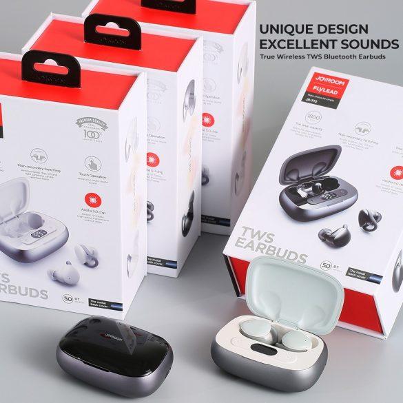 JOYROOM JR T10 biely - Nabíjací box Hi-Fi Bluetooth TWS slúchadlá, čip Airoha, hliníkové puzdro, veľká kapacita batérie