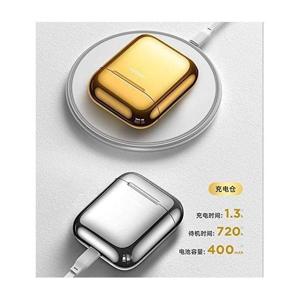 JOYROOM T03S - Bezdrôtové slúchadlá Bluetooth 5.0, Podporované QI (bezdrôtové) nabíjanie, TWS, striebro