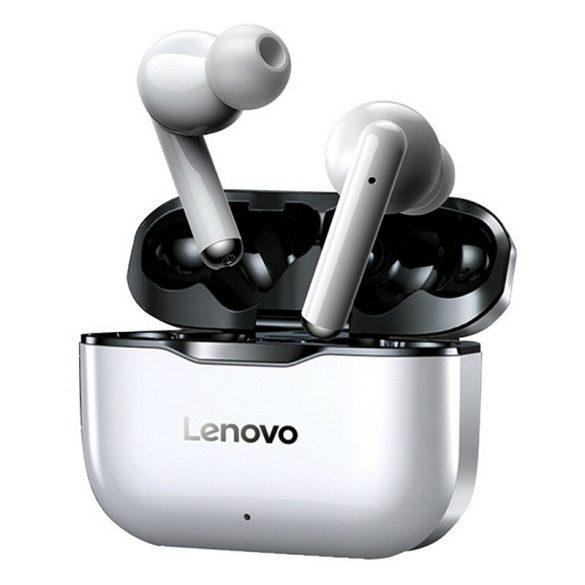 Bezdrôtové slúchadlá Lenovo LivePods LP1 TWS Bluetooth 5.0 duálne stereofónne slúchadlá s mikrofónom Dotykové ovládanie, dlhý pohotovostný režim, 300 mAh IPX4 vodotesné slúchadlá, nabíjacie puzdro n