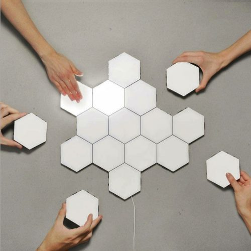 Ningbo (10ks) nástenné svietidlo so šesťhranným dizajnom s dotykovým spínačom