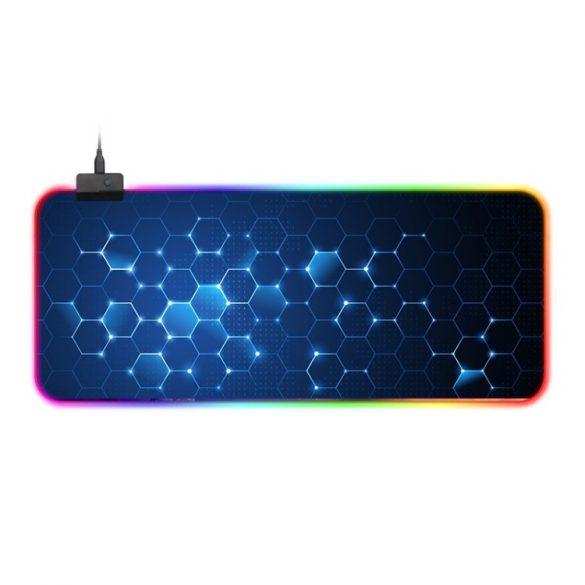 Vodeodolná podsvietená podložka pod myš RGB - so 14 rôznymi svetelnými efektmi, veľkosť: 800 x 300 x 4 mm (voština)