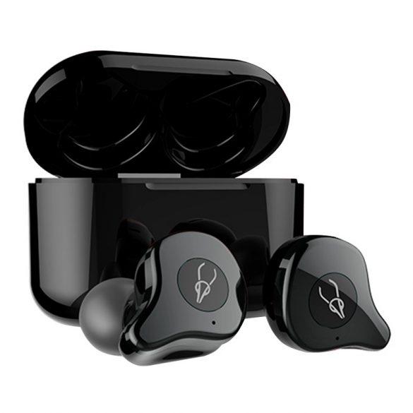 Sabbat E12 U (sivá) with QI-wireless charging - Bezdrôtové slúchadlá s mikrofónom, True Wireless štuple, uzatvorená konštrukcia, Bluetooth 5.0, prijímanie hovorov, certifikácia IPX5