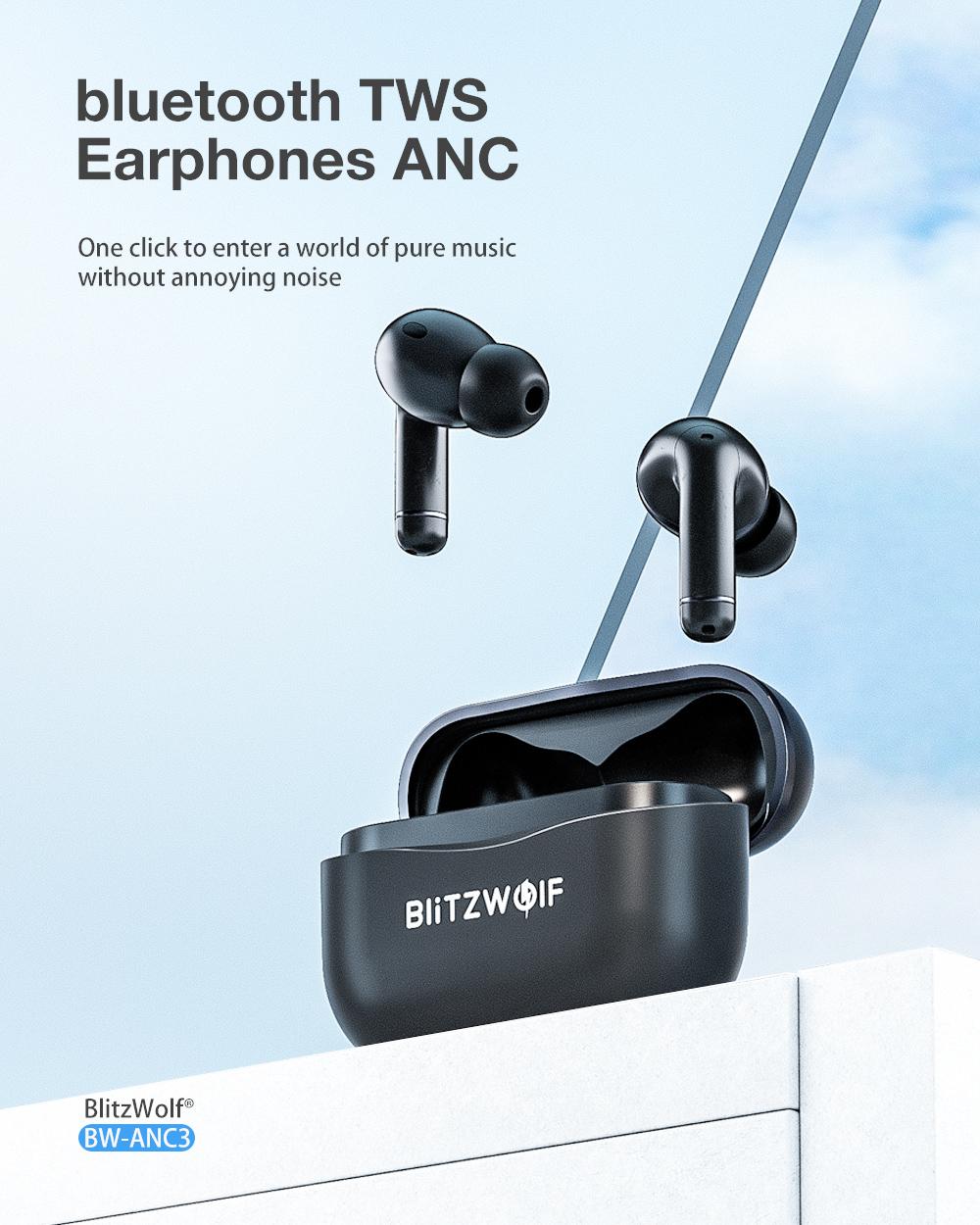 Blitzwolf BW-ANC3 - aktív zajszűrős fülhallgató
