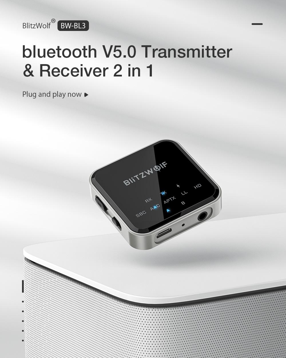 Blitzwolf BW-BL3 bluetooth traszmitter