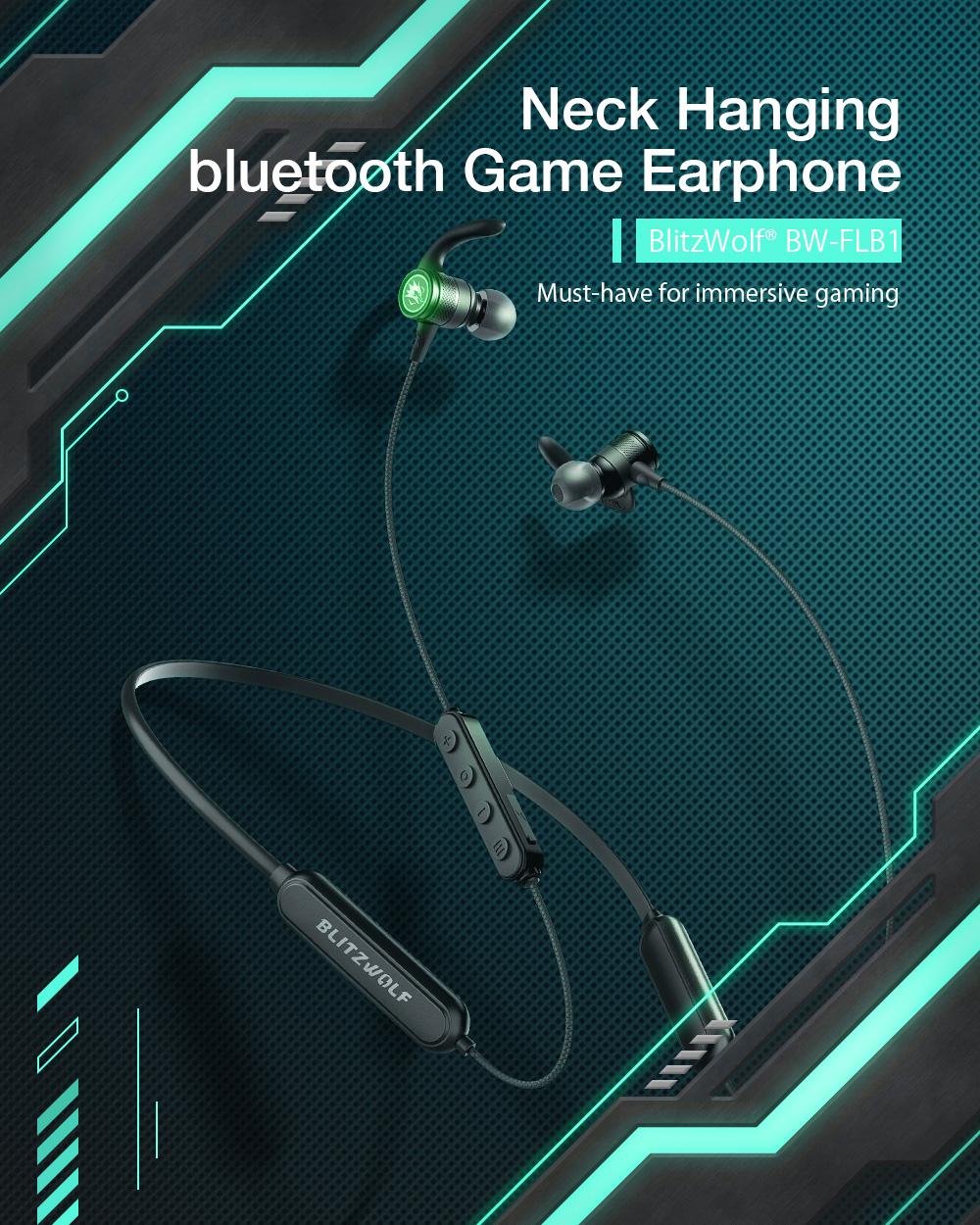 Blitzwolf BW-FLB1 - nyakba akasztható gamer fülhallgató